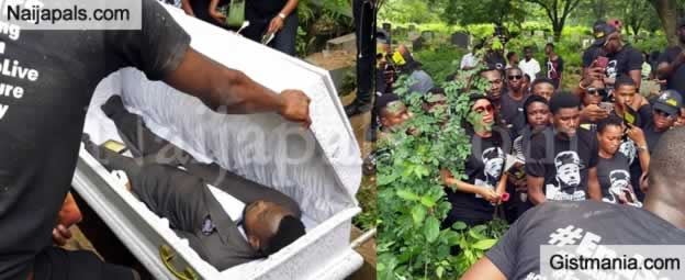 Kolade Johnson Who Was Killed By SARS Is Buried In Lagos Amidst Tears (Photos)