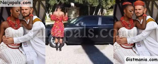Popular Nigerian Dancer & Singer, Korra Obidi Gets A Car Gift From Her Hubby, Dr Justin (Video)
