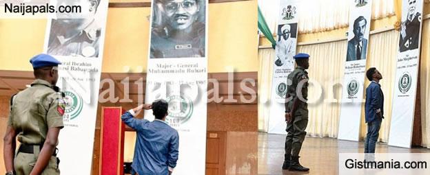 Korede Bello Makes A Mistake While Saluting President Buhari [Photos]