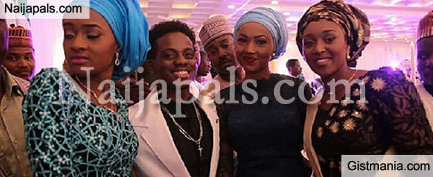 PHOTOS: Mavin Star, Korede Bello Spotted Taking Pictures With Buhari's Daughters
