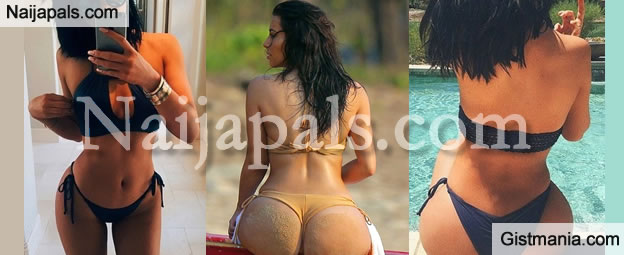 Kylie Jenner Displays Massive Bum In Skimpy Bikini [Photos]