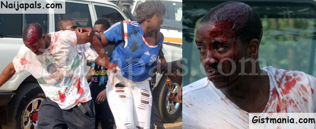 OH! MY!! MY!!! Female Football Supporter Breaks Man's Head During Football Match (Photos)