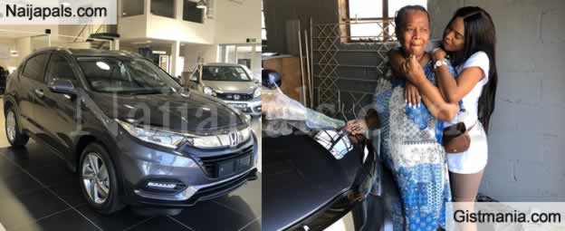 Lady Surprises Mom On Her 60th Birthday With A New Honda SUV