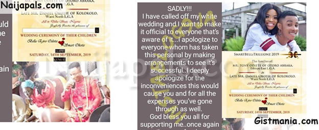 After Engagement & Traditional Wedding, Lady Calls Off White Wedding On Wedding Day In Delta