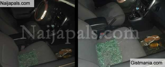 Lady Narrowly Escapes Death After Robbers Shot At Her Car On Eko Bridge