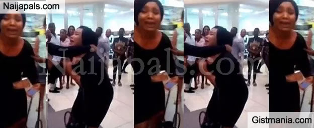 The Holy Spirit Says You Are My Husband - Lady Publicly Harass a Married Man In Lagos
