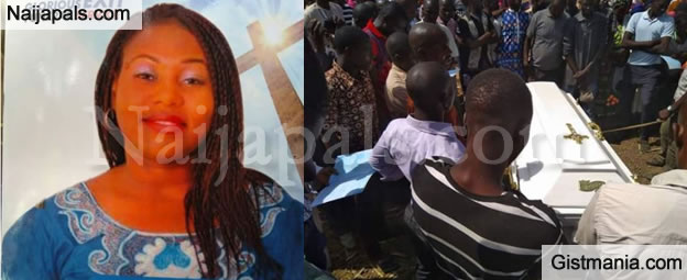 Heartbreaking Photos Of Lady Who Was Murdered By Fulani Herdsmen Buried Amidst Tears In Adamawa