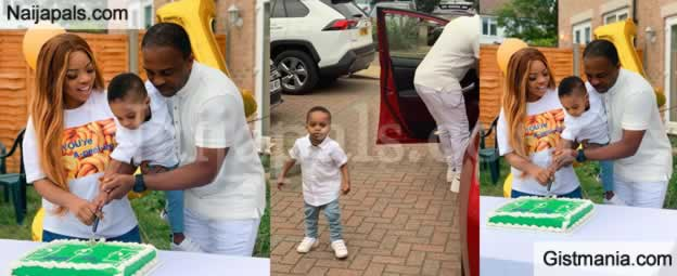 Laura Ikeji And Husband Celebrate Their Son, Rok On His 2nd Birthday