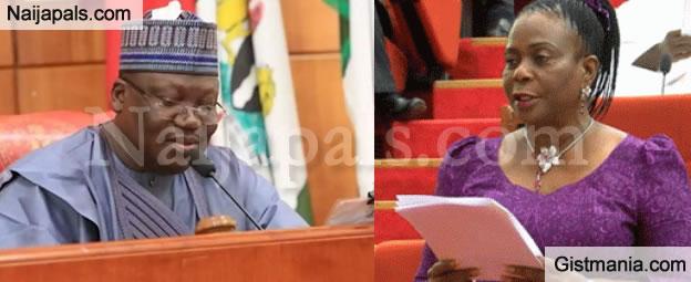 JUST IN: Senate President, Ahmad Lawan Swears in Biodun Olujimi As 8th Female Senator