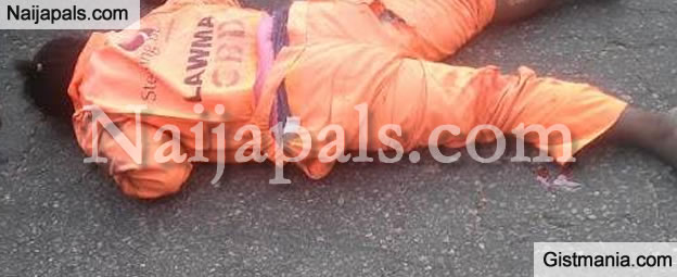 LAWMA Official Killed By Hit And Run During Environmental Sanitation [Photos]