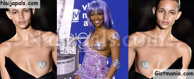 This French Designer Lil' Kim-Inspired 'Nip Slip' Dress Will Shock You (Photos)