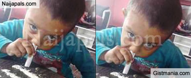 WTF! Picture of a Toddler Sniffing Cocaine Sparks Outrage on the Internet  (PHOTO)