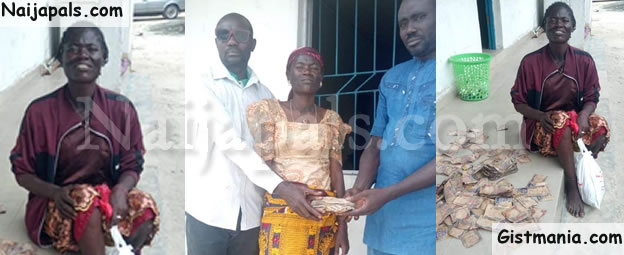 Police Recover N200K From Mentally Ill Woman, Miss Regina Micah Roaming The Streets In Delta (Photos)