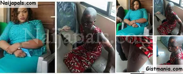 This Is What A Wicked Woman Did To Her 10-Yr Old House Help With Hot Iron In Lagos (Photos)