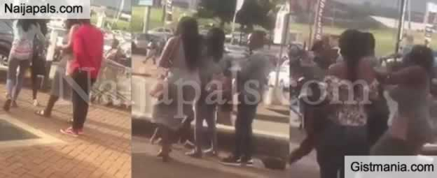 Video: Main Chic Assaulted Her Boyfriend's Side Chic After She Caught Them In The Mall