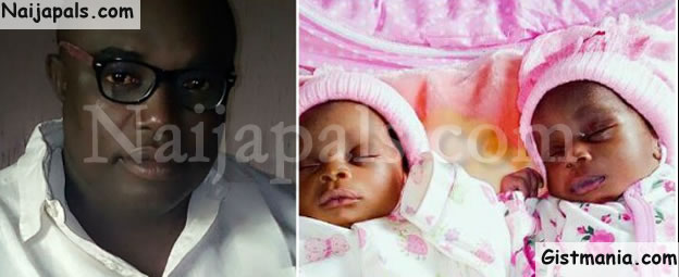 Years After Sharing Baby Photos On FB And Expecting By Faith, Nigerian Man Welcomes Twins (Photos)