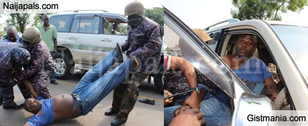 Man Arrested For Overtaking Vice President's Convoy - Photos