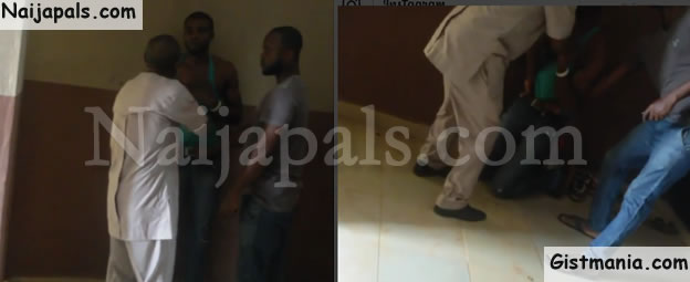 HILARIOUS! Man Angrily Storms School To Beat His Daughter's Abusive Boyfriend (Photos)