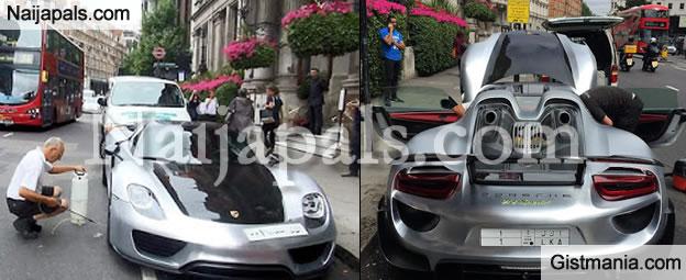 Money Speaking!!! Saudi Billionaire Blocks London Traffic to Wash His $1M Porsche Car (PHOTOS)