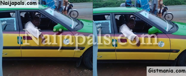 SAD: This Man Died In A Taxi And Nobody Helped Him Cos They Were Afraid Of The Police (Photo)
