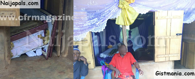 PANDEMONIUM! Man Disrupts Wife's Burial Cermony In Anambra&#059; Thows Her Casket On The Floor (Photos)