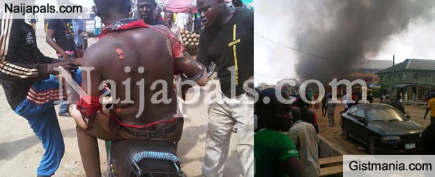 Man Escapes With Severe Burns At Allen Gas Explosion, Okota, Lagos [Photos]