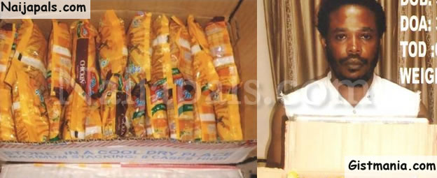 Man Nabbed By NDLEA @ Enugu Airport After Attempting To Smuggle Drugs In Noodles Packs