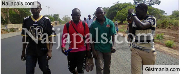 PHOTOS: Man Who Promised To Walk From Lagos To Abuja If Buhari Wins, Has Arrived Abuja