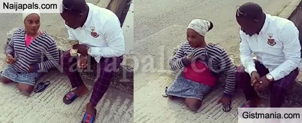 Nigerian Man Offers To Buy A Wheelchair And Open A Shop For A Crippled Lady He Met On The Road Side