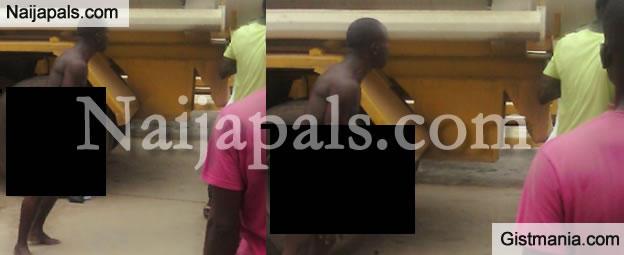 Man Goes Naked Because He Couldn't Buy Fuel In Lagos - Photos