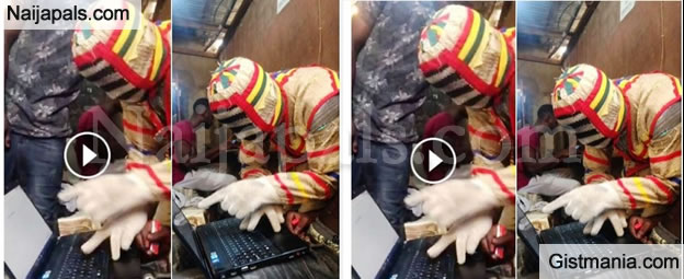 LOL! Can't Imagine Yahoo Yahoo Masquerade Spotted, Seriously Charting With Client. VIDEO
