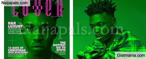Nigerian Artist, Mayorkun Looks Dapper As He Covers Latest Edition Of Accelerate TV's Magazine