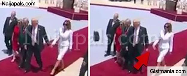 President Trump's Wife, Melania Slaps Away The US President's Hand On Arrival In Israel (VIDEO)