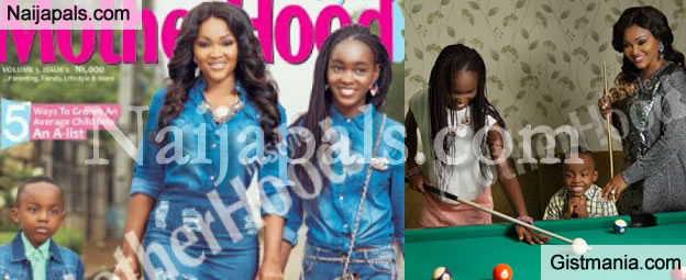 Actress Mercy Aigbe & Her Kids Cover Motherhood In Style Magazine