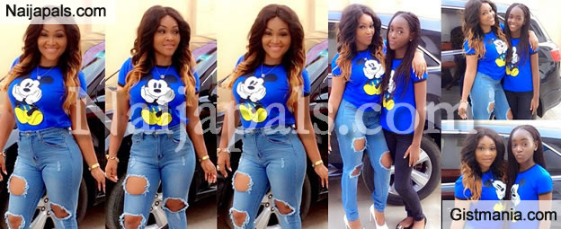 Proud Mom, Mercy Aigbe Shows Off Her Super Hot Teenage Daughter