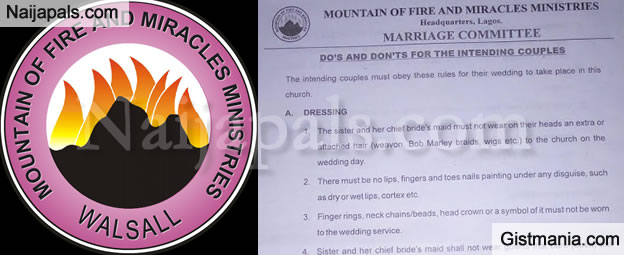 Guidelines For Couples Wishing To Be Married In Mountain Of Fire And Miracles Ministries