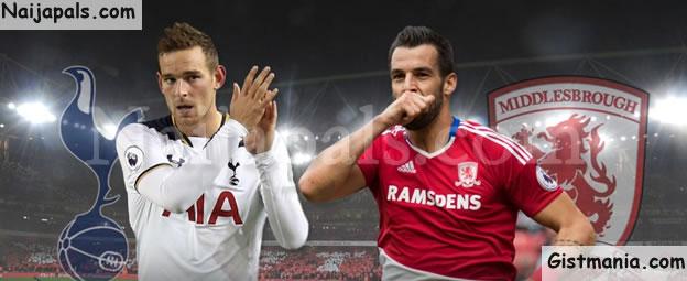 EPL! Middlesbrough (1) vs (2) Tottenham Hotspur - FULL TIME!