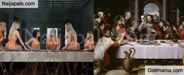 Brazil's Miss Bumbum Contestants Sparks Outrage As Contestants Pose like Last Supper Painting