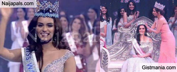 Miss India, Manushi Chhillar Crowned Miss World 2017 (See Lovely Photos From The Pageant)