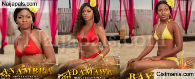 Photos: Check Out 2019 Finalists Of The Miss Tourism Nigeria In Their Swimwears