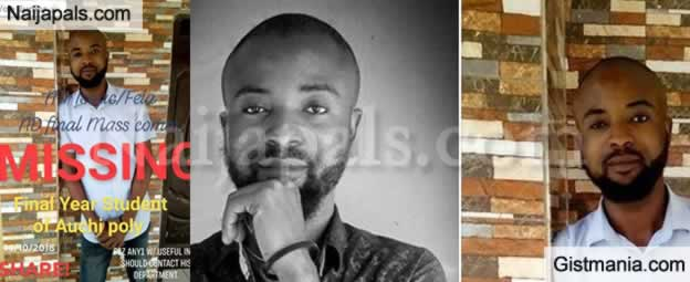 Final Year Student, Isaac Set To Graduate Next Week Reportedly Missing In Edo (Photos)