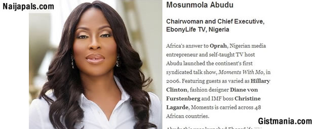 "'Mo Abudu Has Conquered A Continent': CNN's Leading Woman Profiles ""Africa's Oprah"""