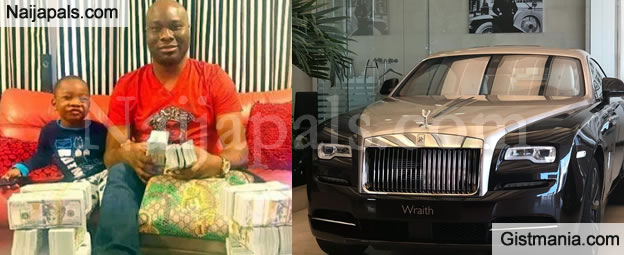 Hushpuppi's Billionaire Money Changer Aboki Friend, Mompha Buys Rolls Royce For N150M Cash (Video)