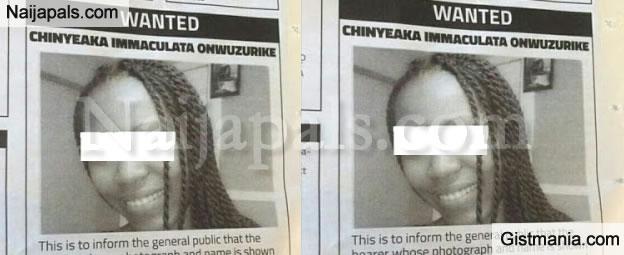 TF! Nigerian Police Declares Chiyeaka Immaculata Onwuzurike Wanted For Bisexual Activities