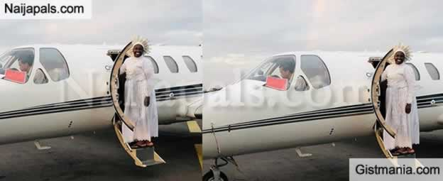Mother Esther Abimbola Flies A Private Jet Out Of Madagascar With Her Entourage