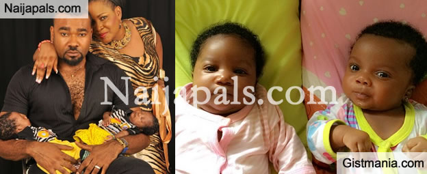 Cute Photos Of Muma Gee and Prince Eke's Twin Babies