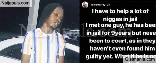 'I Have To Help Alot Of N**gas In Jail' - Naira Marley Vows