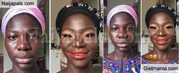 Natural Look Vs Make-up Transformation! Which Photo Is Better Of This African Lady?