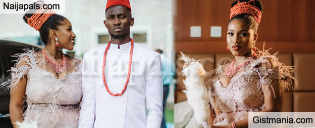 More Lovely Photos From Super Eagle Star, Wilfred Ndidi & Dinma's Traditional Wedding