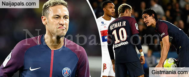 PSG Star Neymar, Speaks After Clash With Team Mate Cavani Over Penalty Kicks Against Lyon